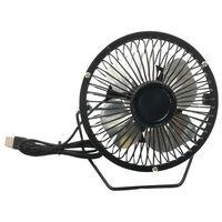 4 Inch USB Desk Fan Black