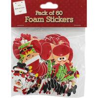 Festive Foam Stickers - Pack Of 60
