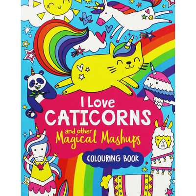 I Love Caticorns and Other Magical Mashups Colouring Book image number 1