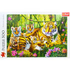Family of Tigers 500 Piece Jigsaw Puzzle image number 2