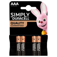Duracell Simply AAA Batteries: Pack of 4