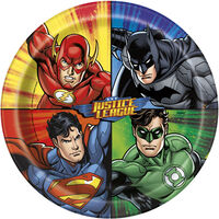 Justice League Paper Plates - 8 Pack