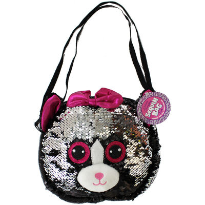 Black Silver Cat Sequin 3 In 1 Bag image number 2