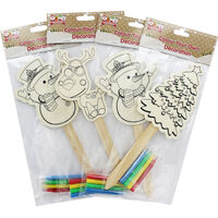 Colour Your Own Wooden Stick Character