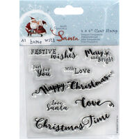 At Home with Santa Sentiments Clear Stamp Set