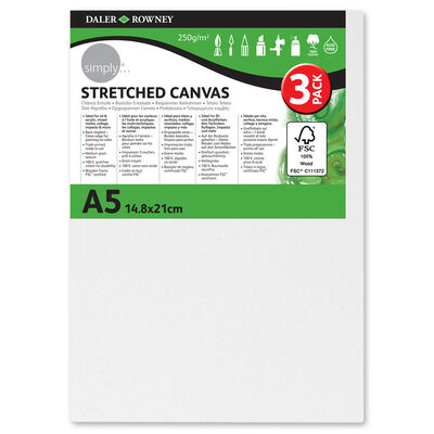 Stretched Canvases A5 Pack of 3 image number 1