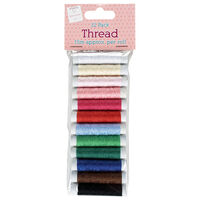 Multi-Coloured Thread: Pack of 12