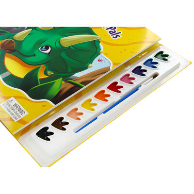Dinosaurs Prehistoric Pals Poster Paint Book image number 3