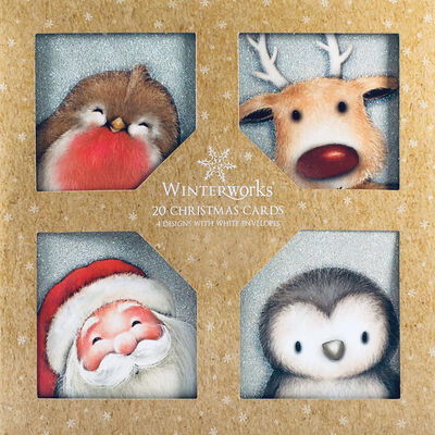 Cute Christmas Cards: Pack Of 20 image number 1