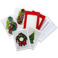 Make Your Own Cross Stitch Card Kit: Christmas Wreath and Tree