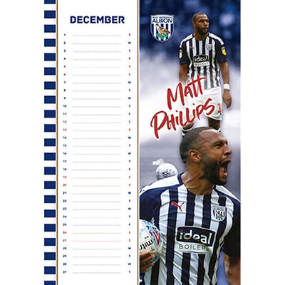 The Official West Bromwich Albion Calendar 2020 image number 2