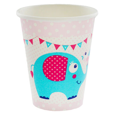 Pink Christening Day Paper Cups - 8 Pack image number 2