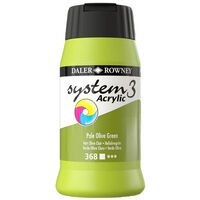 System 3 Acrylic Paint: Pale Olive Green 500ml