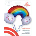 37 Inch Rainbow Super Shape Helium Balloon image number 3