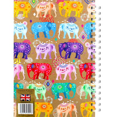 A4 Wiro Colour Elephants Lined Notebook image number 3