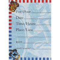 Harry Potter Party Invitations - 8 Pack