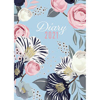 A5 Floral 2021 Day a Page Diary