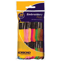Korbond Embroidery Floss: Pack of 20