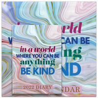 Be Kind 2022 Square Calendar and Diary Set