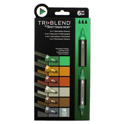 Spectrum Noir TriBlend - Woodland Shades - 6 Pack image number 1