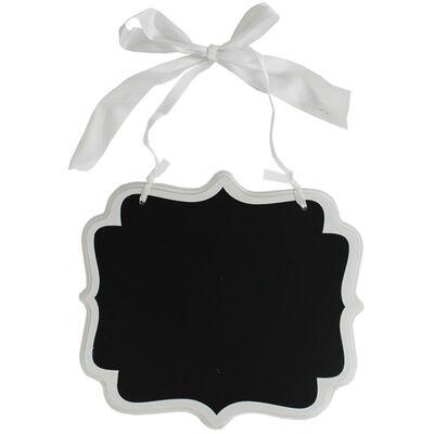 White Large Hanging Chalkboard Sign image number 1