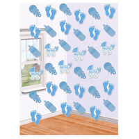 Blue Boy Baby Shower Hanging String Decorations