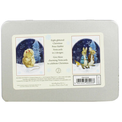 8 Peter Rabbit Christmas Cards in Tin - Cotton Tail image number 4
