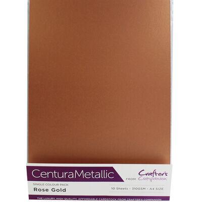 Centura Metallic A4 Rose Gold Card - 10 Sheet Pack image number 1