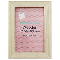 Decorate Your Own Wooden Photo Frame: 4 x 6 Inch