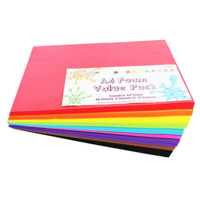 A4 Foam Value Pack - 50 Sheets image number 1