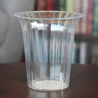 Flared Clear Plastic Candy Vase