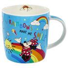 Disney Minnie Mouse Blue Rainbow Ceramic Mug image number 2