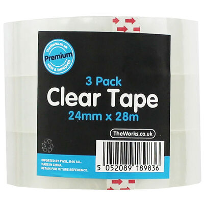 Clear Tape Rolls - Set Of 3 image number 1