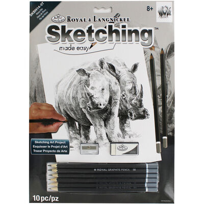 Rhino Pair Sketching Made Easy Set image number 1