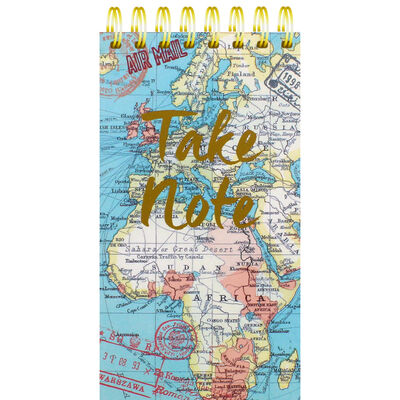 Blue Vintage Map Wiro List Pad image number 1
