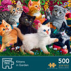 Kittens in the Garden 500 Piece Jigsaw Puzzle image number 1