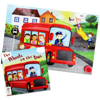 Wheels on the Bus 28 Piece Musical Floor Jigsaw Puzzle