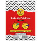 Twin-tip Felt Pens: Pack of 12 image number 2