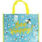 Bee Happy Giant Reusable Shopping Bag image number 1