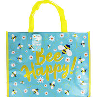 Bee Happy Giant Reusable Shopping Bag