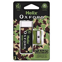 Helix Oxford Camo Eraser and Sharpener Green