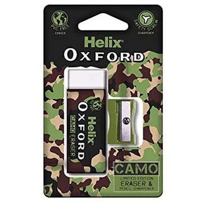 Helix Oxford Camo Eraser and Sharpener Green image number 1