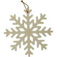 Craft Wooden Hanging Snowflake