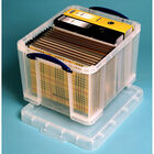 Really Useful 35 Litre Clear Plastic Storage Box image number 2