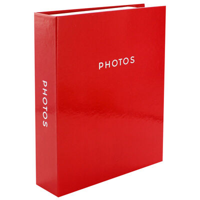 Red 7x5 Photo Album image number 1