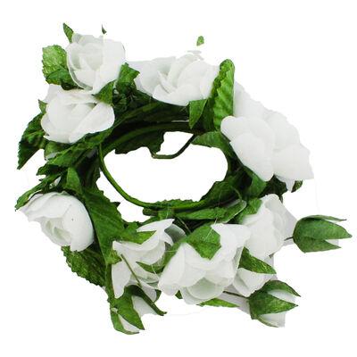 White Paper Rose Garland - 2m image number 2