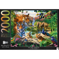 Mindbogglers Artisan In the Jungle & Balloon Festival 2000 Piece Jigsaw Puzzle Bundle