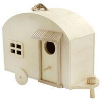 Wooden Hanging Caravan Birdhouse
