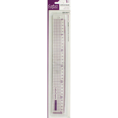 Crafters Companion Metal Edge Acrylic 30cm Ruler image number 1