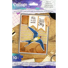 Crafter's Companion Collage Photopolymer Stamp - Born to Fly image number 1